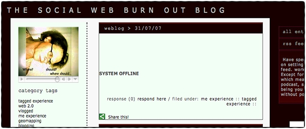 Yvonne Martinsson: the social web burn out blog
